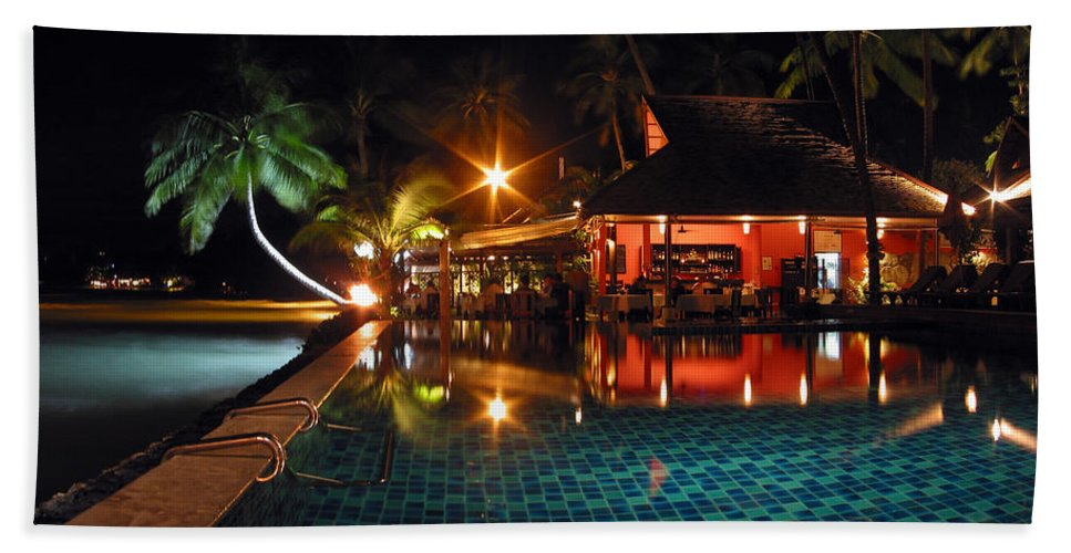 3scape Hand Towel featuring the photograph Koh Samui Beach Resort by Adam Romanowicz