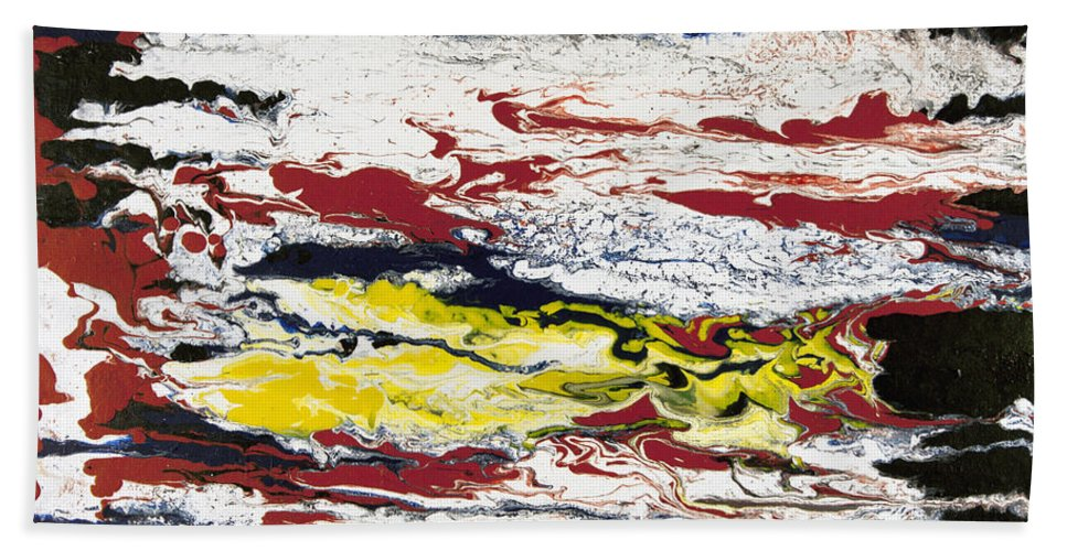 Abstract Hand Towel featuring the painting Kohala by Daniel Solone
