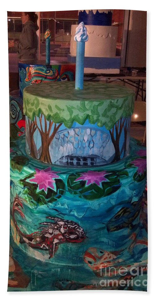 Birthday Cake Bath Sheet featuring the painting Missouri Botanical Garden Stl250 Cakeway To The West 2 by Genevieve Esson