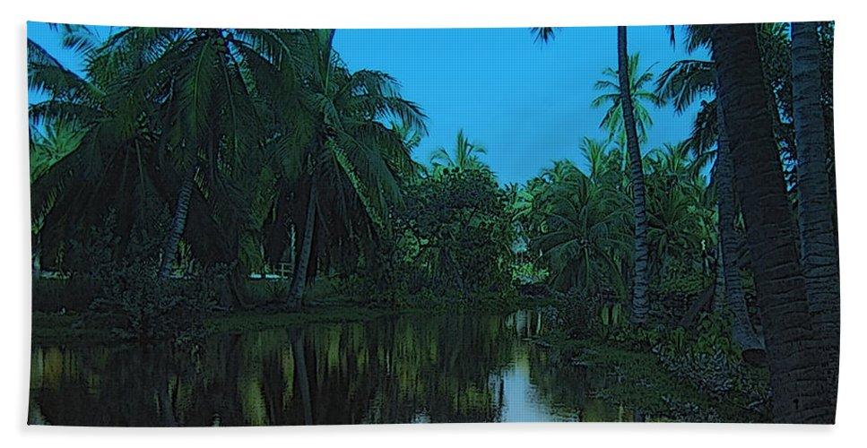 Lagoon Hand Towel featuring the photograph Kona Village Hi by Mim White