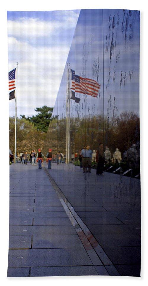 Washington D.c. Bath Sheet featuring the photograph Korea Memorial by Pablo Rosales