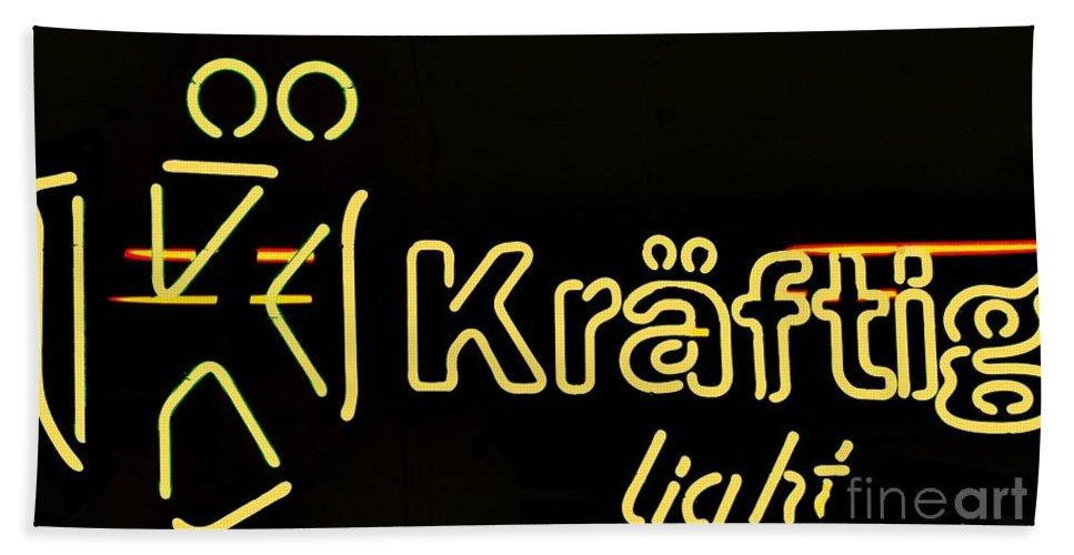Bath Sheet featuring the photograph Kraftig Light 1 by Kelly Awad