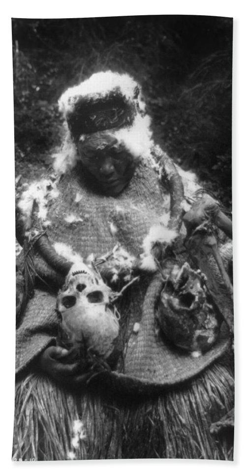 1911 Bath Towel featuring the photograph Kwakiutl Dancer, C1911 by Granger