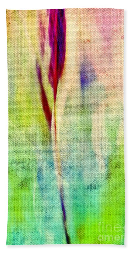 Abstract Bath Sheet featuring the photograph L Epi - S14at01 by Variance Collections