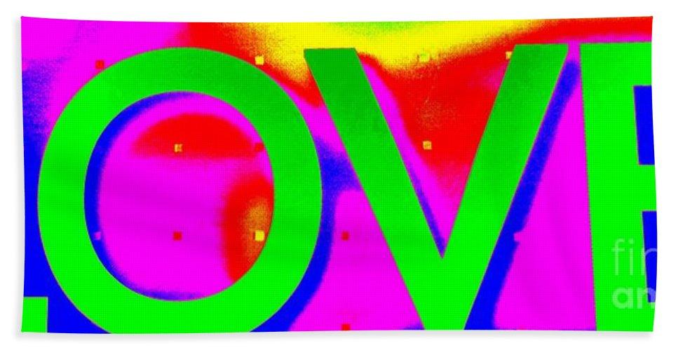 Pop Art Hand Towel featuring the photograph L O V E by Ed Weidman