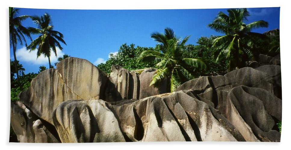 Ocean Bath Towel featuring the photograph La Digue Island - Seychelles by Juergen Weiss