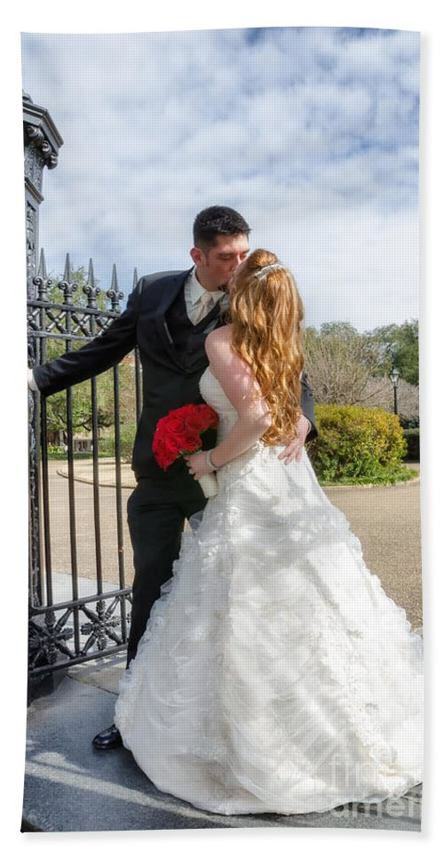 Wedding Hand Towel featuring the photograph Lacey And Adam Wedding 1 by Kathleen K Parker