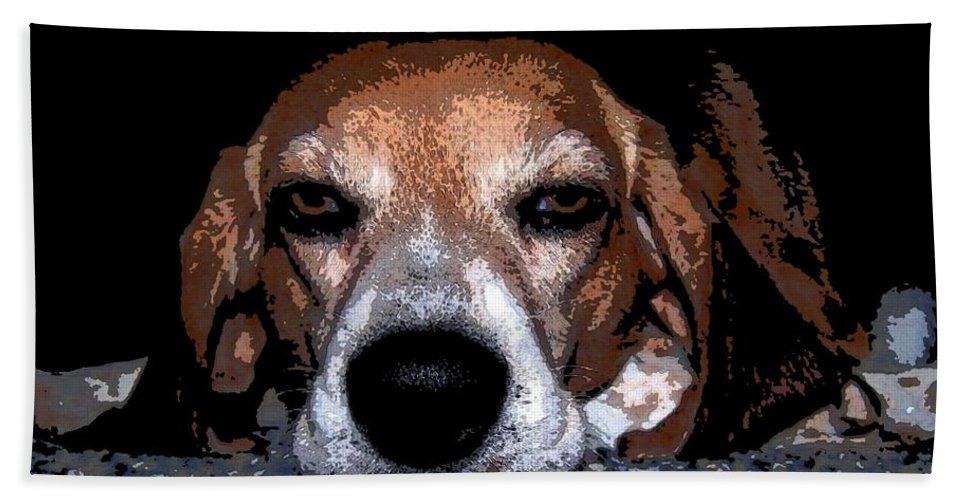 Beagle Bath Sheet featuring the photograph Lady 5 by April Patterson