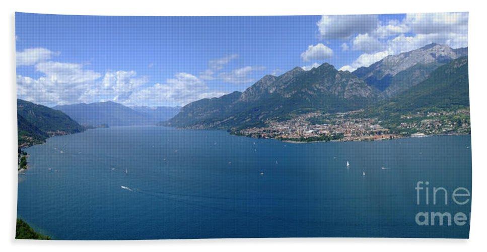 Lago Di Como Hand Towel featuring the photograph Lago Di Como by Riccardo Mottola