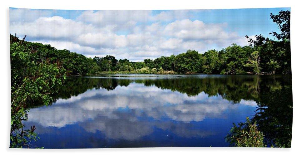 Lagoon Bath Sheet featuring the photograph Lagoon Iv by Joe Faherty