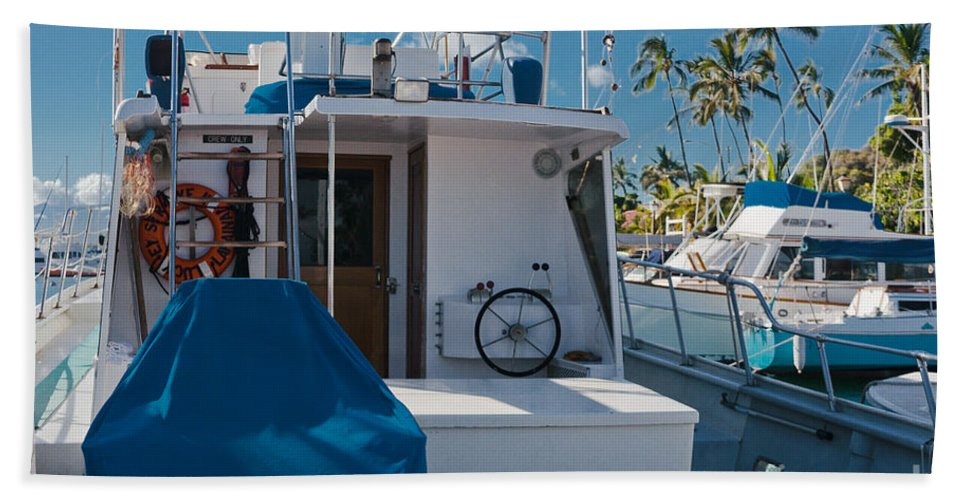 Lahaina Bath Sheet featuring the photograph Lahaina Marina Maui Hawaii by Sharon Mau