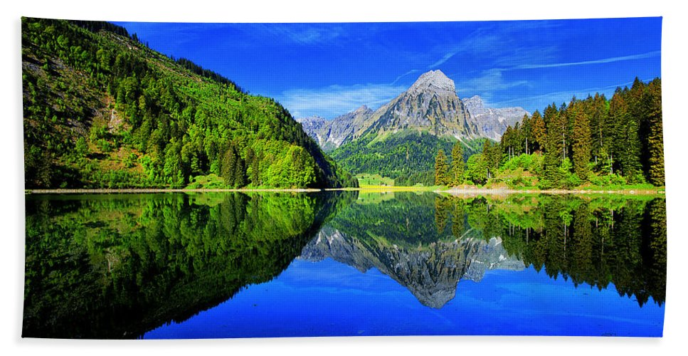 Lake Hand Towel featuring the photograph Lake 3 by Ingrid Smith-Johnsen