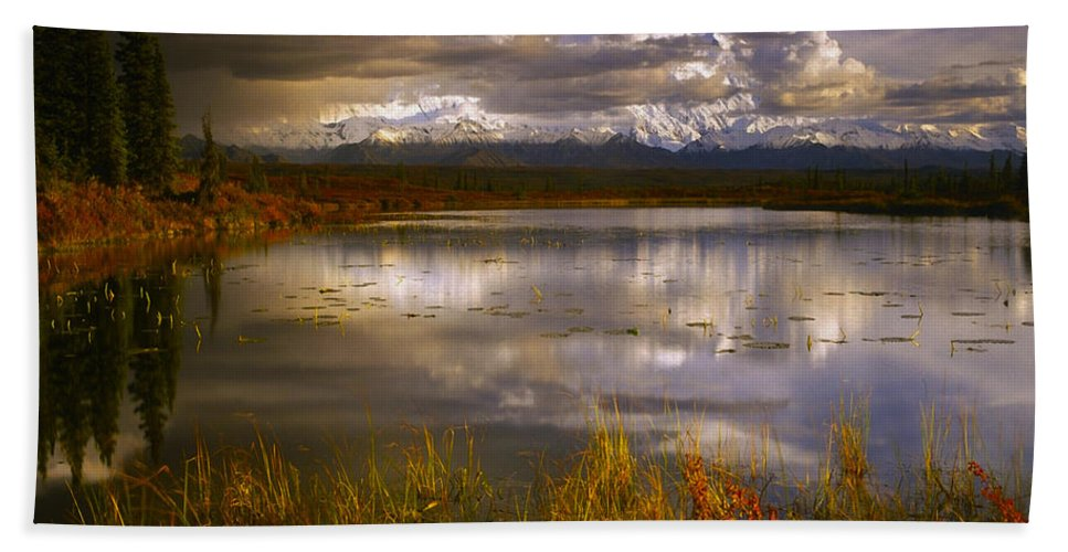 Lake Hand Towel featuring the photograph Lake 19 by Ingrid Smith-Johnsen