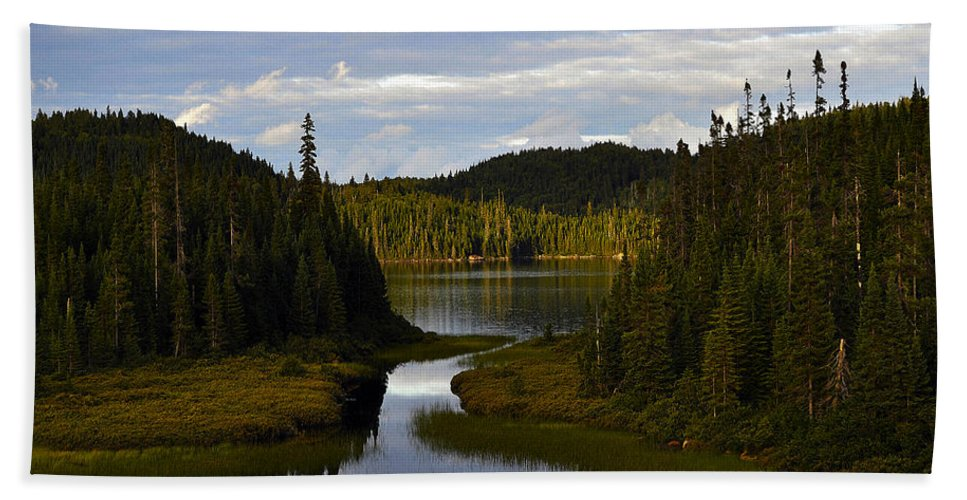 Lake Hand Towel featuring the photograph Lake 2 by Ingrid Smith-Johnsen