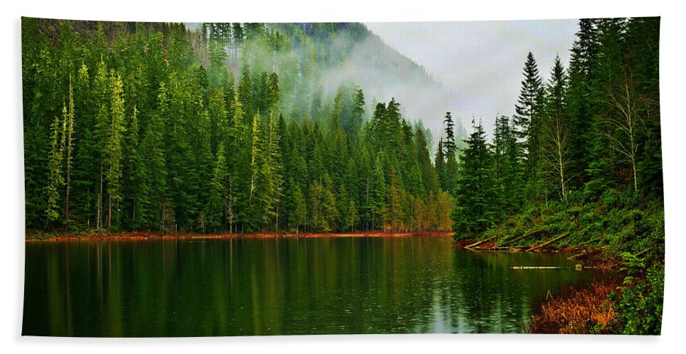Lake Hand Towel featuring the photograph Lake 5 by Ingrid Smith-Johnsen