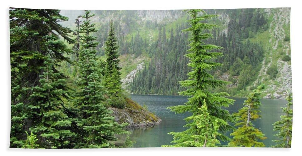 Pacific Northwest Hand Towel featuring the photograph Lake Eunice II by Tikvah's Hope