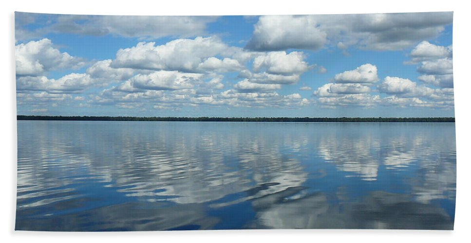 Great Bath Sheet featuring the photograph Lake Full Of Clouds by Two Bridges North