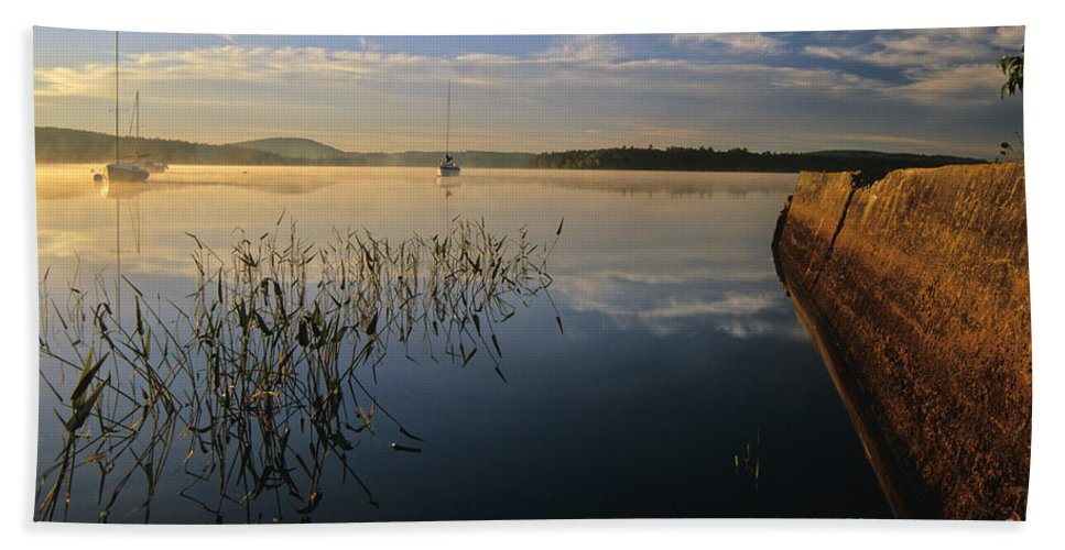 Lake Massabesic Bath Sheet featuring the photograph Lake Massabesic - Auburn New Hampshire by Erin Paul Donovan