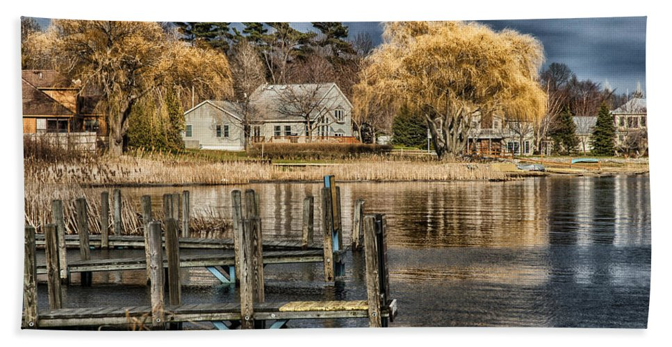 Cottage Bath Sheet featuring the photograph lake Michigan by Kevin Cable