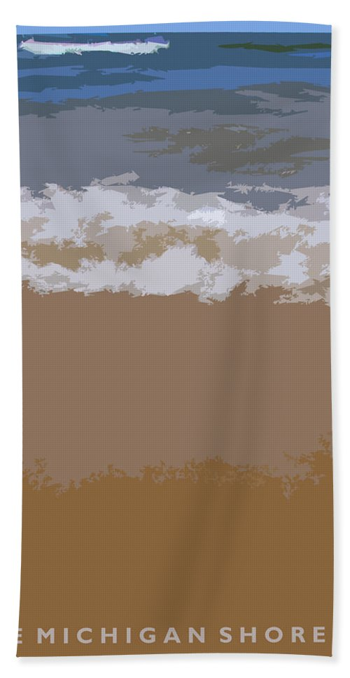 Beach Bath Sheet featuring the photograph Lake Michigan Shoreline by Michelle Calkins