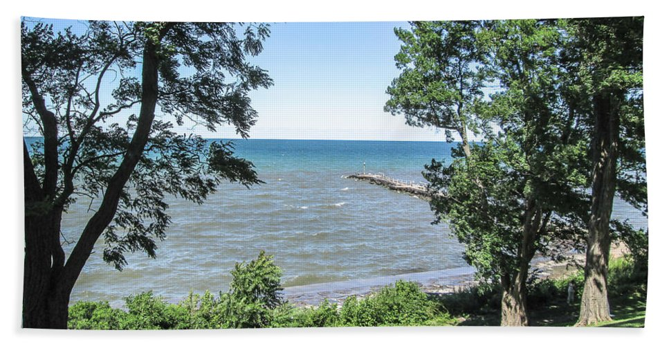 Lake Ontario Bath Sheet featuring the photograph Lake Ontario At Webster Park by Lou Cardinale