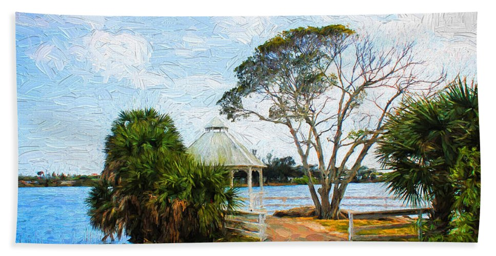 Lake Hand Towel featuring the photograph Lake Series 01 by Carlos Diaz