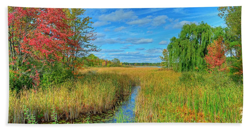 Creek Bath Sheet featuring the photograph Lake Sixteen by Rodney Campbell