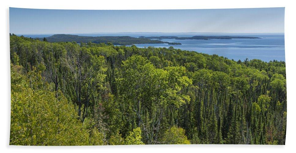 Lake Bath Sheet featuring the photograph Lake Superior Grand Portage 3 by John Brueske