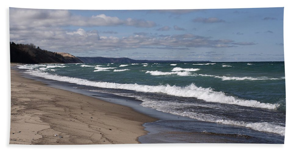 Beach Bath Sheet featuring the photograph Lake Superior Shoreline by Debby Richards