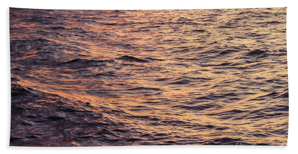 Lake Hand Towel featuring the photograph Lake Superior Sunset by Bethany Helzer