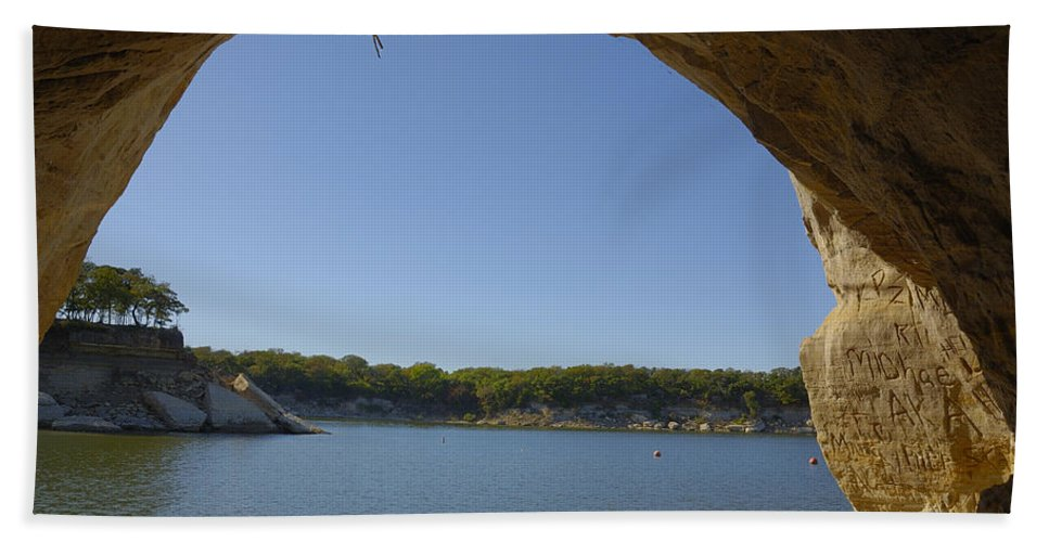 Lake Bath Sheet featuring the photograph Lake Texoma Eisenhower State Park Texas by Charles Beeler