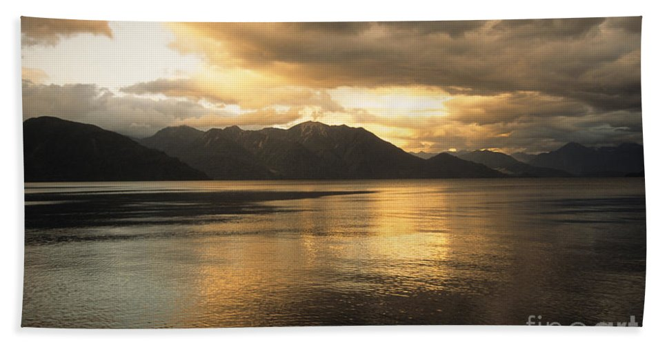 Lake Hand Towel featuring the photograph Lake Todos Los Santos Chile by James Brunker