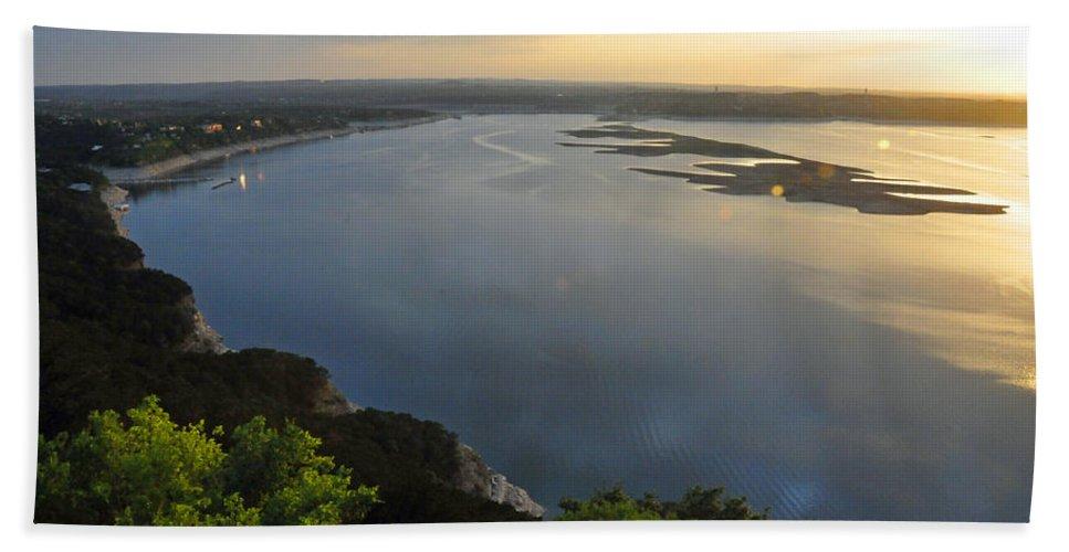 Texas Bath Sheet featuring the photograph Lake Travis Sunset by Lynn Bauer