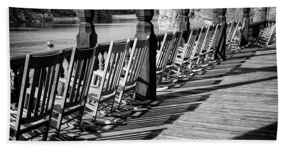 Porch Hand Towel featuring the photograph Lake View by Claudia Kuhn