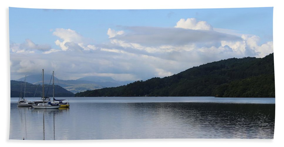 Lakes Hand Towel featuring the photograph Lake Windermere by Martin Newman
