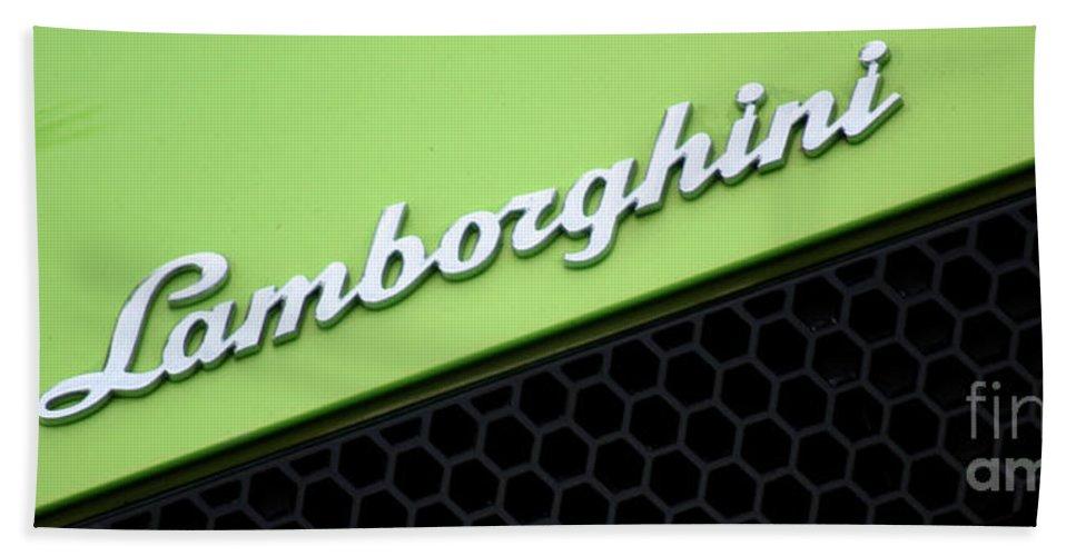 Lamborghini Bath Sheet featuring the photograph Lambologo8665 by Gary Gingrich Galleries