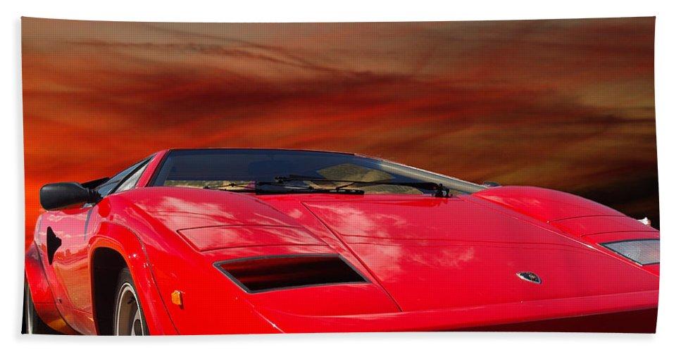 Lamborghini Starting Dream Bath Sheet featuring the photograph Lamborghini Starting Dream by Randall Branham
