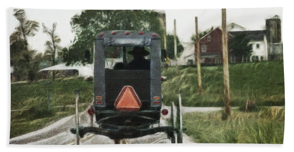 Lancaster Roads Hand Towel featuring the photograph Lancaster Roads by Wes and Dotty Weber