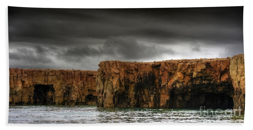 Hdr Hand Towel featuring the photograph Land Of The Beginning Of Time... by Nina Stavlund