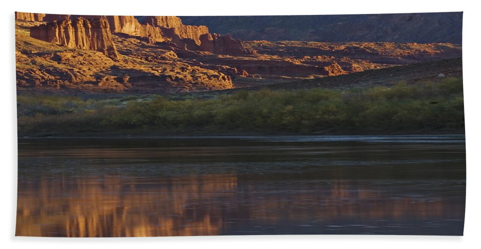 Lake Hand Towel featuring the photograph Lake 7 by Ingrid Smith-Johnsen