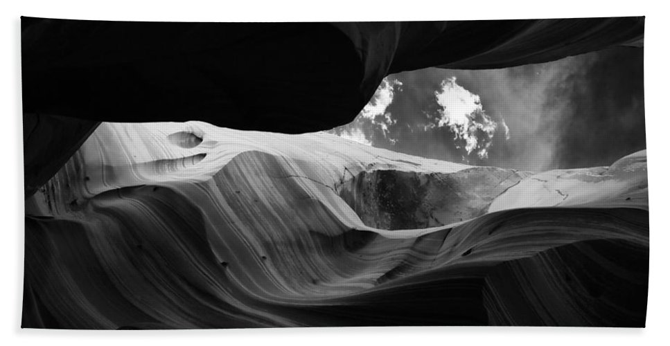 Abstract Bath Sheet featuring the photograph Landscape 174 by Ingrid Smith-Johnsen