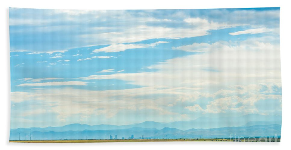 Road Hand Towel featuring the photograph Landscape Of Denver Colorado by Amel Dizdarevic