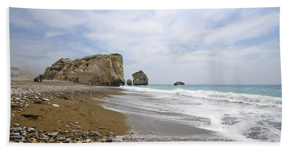 Michalakis Ppalis Bath Sheet featuring the photograph Seascape Paphos Cyprus by Michalakis Ppalis