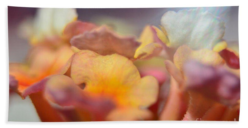 Nature Bath Sheet featuring the photograph Lantana Macro Iv by Debbie Portwood