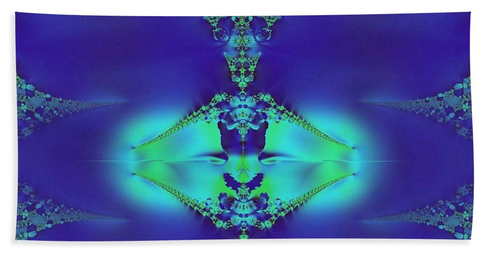Lantern Of Sapphire Hand Towel featuring the digital art Lantern Of Sapphire by Maria Urso