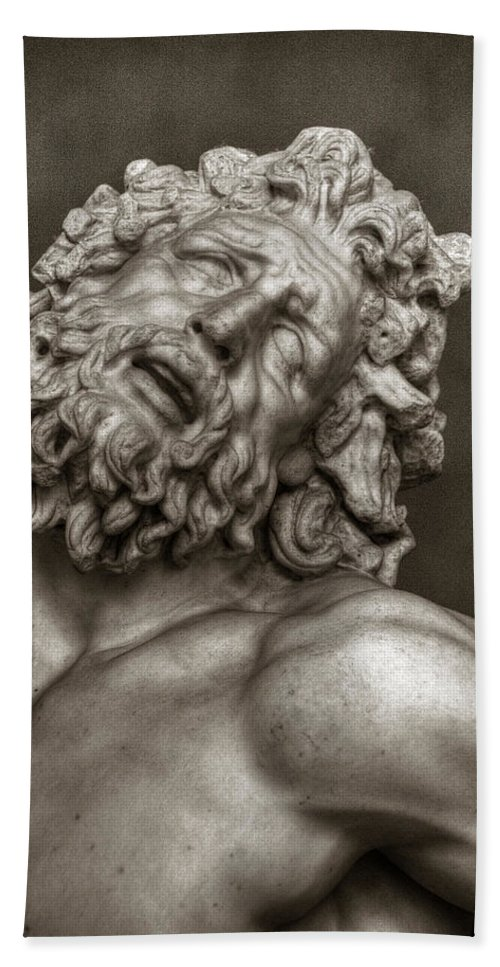 Laocoon Bath Sheet featuring the photograph Laocoon by Michael Kirk