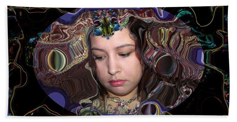 Portrait Bath Towel featuring the digital art Lapislazuli Beauty by Otto Rapp