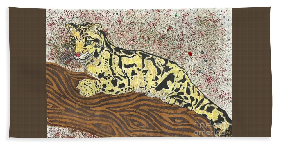 Cloud Leopard Hand Towel featuring the painting Last Clouds Of The Year by John Williams