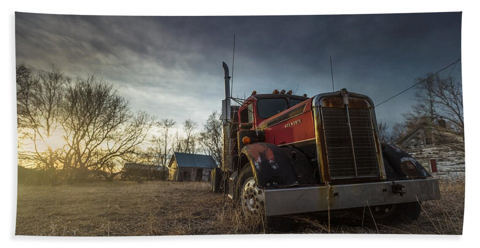 Abandoned Hand Towel featuring the photograph Last Haul by Aaron J Groen