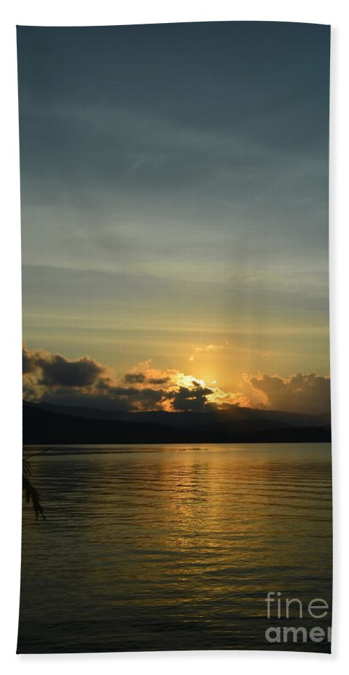 Michelle Meenawong Hand Towel featuring the photograph Last Light by Michelle Meenawong